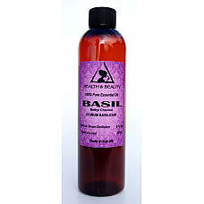 Basil essential oil methyl chavicol aromatherapy natural 100% pure 8 oz