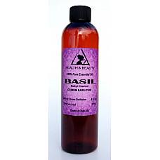 Basil essential oil methyl chavicol aromatherapy natural 100% pure 8 oz