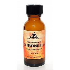 Citronella essential oil aromatherapy 100% pure natural glass bottle 1 oz, 30 ml