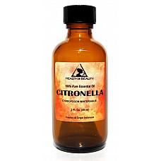 Citronella essential oil aromatherapy 100% pure natural glass bottle 2 oz, 59 ml