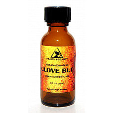 Clove bud essential oil aromatherapy 100% pure natural glass bott 1.0 oz, 30 ml