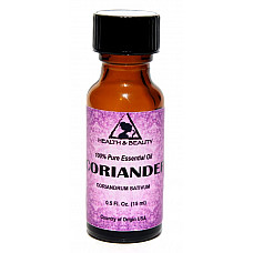 Coriander essential oil aromatherapy 100% pure natural glass bottle 0.5 oz 15 ml