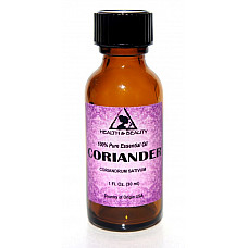 Coriander essential oil aromatherapy 100% pure natural glass bottle 1 oz, 30 ml