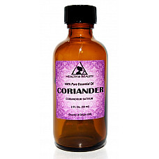 Coriander essential oil aromatherapy 100% pure natural glass bottle 2 oz, 59 ml
