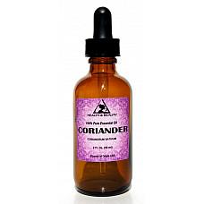 Coriander essential oil aromatherapy 100% pure natural glass dropper 2 oz, 59 ml