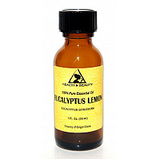 Eucalyptus lemon essential oil aromatherapy 100% pure natural glass bottle 1 oz