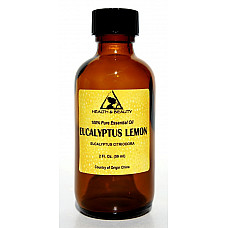 Eucalyptus lemon essential oil aromatherapy 100% pure natural glass bottle 2 oz