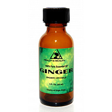 Ginger essential oil aromatherapy 100% pure natural glass bottle 1.0 oz, 30 ml