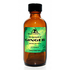 Ginger essential oil aromatherapy 100% pure natural glass bottle 2.0 oz, 59 ml