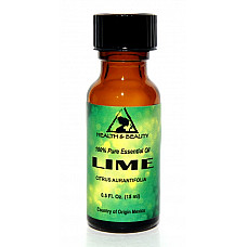 Lime essential oil aromatherapy 100% pure natural glass bottle 0.5 oz, 15 ml