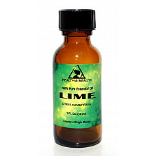 Lime essential oil aromatherapy 100% pure natural glass bottle 1.0 oz, 30 ml