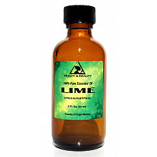Lime essential oil aromatherapy 100% pure natural glass bottle 2.0 oz, 59 ml