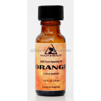 Orange essential oil organic aromatherapy 100% pure glass bottle 0.5 oz, 15 ml