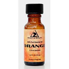 Orange essential oil organic aromatherapy 100% pure glass bottle 0.5 oz, 15 ml