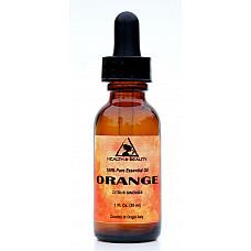 Orange essential oil organic aromatherapy 100% pure glass dropper 1 oz, 30 ml