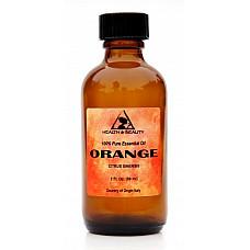 Orange essential oil organic aromatherapy 100% pure glass bottle 2 oz, 59 ml