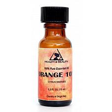 Orange 10x (10 fold) essential oil organic aromatherapy glass bott 0.5 oz, 15 ml