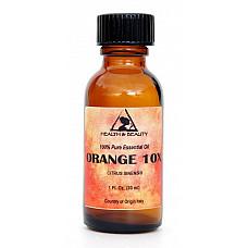 Orange 10x (10 fold) essential oil organic aromatherapy glass bottle 1 oz, 30 ml