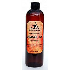 Orange 5x (5 fold) essential oil organic aromatherapy natural 100% pure 12 oz