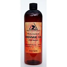 Orange 5x (5 fold) essential oil organic aromatherapy natural 100% pure 16 oz