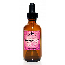 Rosemary essential oil aromatherapy natural 100% pure glass dropper 2 oz, 59 ml