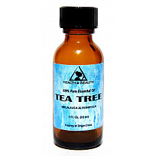 Tea tree essential oil aromatherapy natural 100% pure glass bottle 1.0 oz, 30 ml