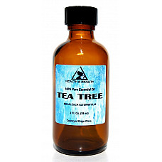 Tea tree essential oil aromatherapy natural 100% pure glass bottle 2.0 oz, 59 ml