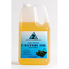 Castor oil organic usp grade hexane free cold pressed premium fresh pure 7 lb
