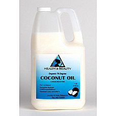 Coconut oil 76 degree organic carrier refined cold pressed 100% pure 7 lb