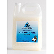Coconut oil extra virgin unrefined organic carrier cold pressed raw pure 7 lb