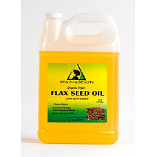Flax seed oil organic carrier virgin cold pressed pure 7 lb