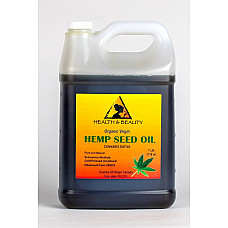 Hemp seed oil unrefined organic carrier virgin cold pressed raw pure 7 lb