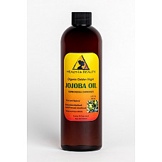 Jojoba oil golden organic carrier unrefined cold pressed raw virgin pure 12 oz