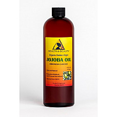 Jojoba oil golden organic carrier unrefined cold pressed raw virgin pure 16 oz