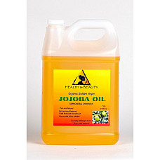 Jojoba oil golden organic carrier unrefined cold pressed raw virgin pure 7 lb