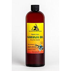 Karanja / pongamia oil organic unrefined virgin cold pressed raw pure 16 oz