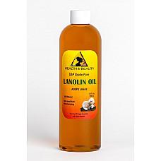 Lanolin oil usp grade pharmaceutical skin hair lips moisturizing 100% pure 12 oz