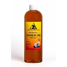 Lanolin oil usp grade pharmaceutical skin hair lips moisturizing 100% pure 16 oz