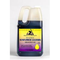 Lecithin sunflower unbleached fluid liquid emulsifier emollient pure 7 lb