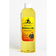 Moringa oleifera oil organic carrier cold pressed natural fresh 100% pure 12 oz