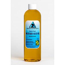 Mustard oil organic unrefined virgin cold pressed raw premium fresh pure 12 oz