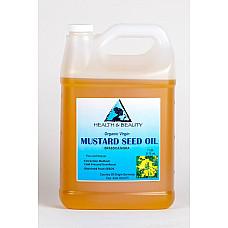 Mustard oil organic unrefined virgin cold pressed raw premium fresh pure 7 lb