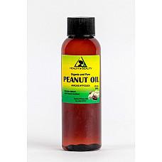 Peanut oil unrefined organic carrier cold pressed virgin raw pure 2 oz
