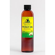 Peanut oil unrefined organic carrier cold pressed virgin raw pure 8 oz