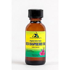 Red raspberry seed oil unrefined organic cold pressed pure glass bottle 1 oz