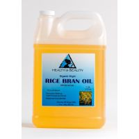 Rice bran oil unrefined organic carrier cold pressed virgin raw pure 7 lb