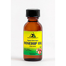 Rosehip seed oil unrefined organic virgin cold pressed pure glass bottle 1 oz
