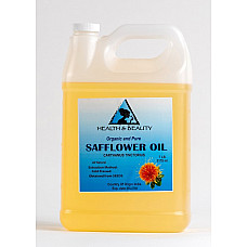 Safflower oil organic carrier high oleic cold pressed premium 100% pure 7 lb