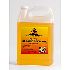 Sesame oil unrefined organic carrier expeller pressed virgin raw pure 7 lb