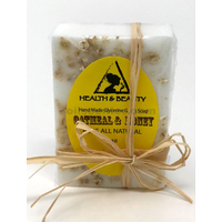 Oatmeal honey coconut oil handmade soap bar all natural moisturizing body